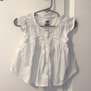 White toddler blouse